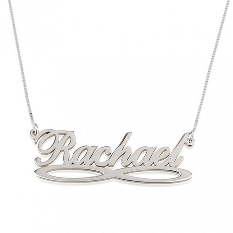Sterling Silver Infinity Name Necklace - jeweleen - 1