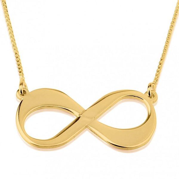 24K Gold Plated Infinity Necklace - jeweleen - 1