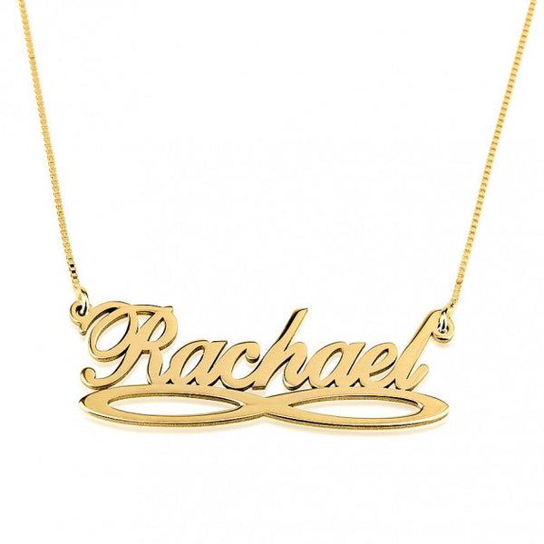 24K Gold Plated Infinity Name Necklace - jeweleen - 1