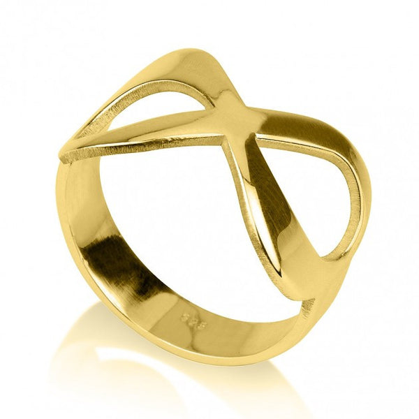 24K Gold Plated Plain Infinity Ring - jeweleen