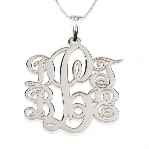 Sterling Silver 5 Initials Monogram Necklace - jeweleen - 1