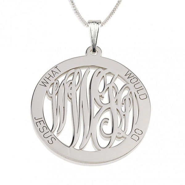 Sterling Silver What Would Jesus Do Necklace - jeweleen - 1