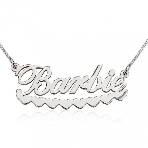 Barbie Hearts Name Necklace - jeweleen - 1