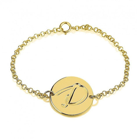 24K Gold Plated Initial Bracelet - jeweleen - 1