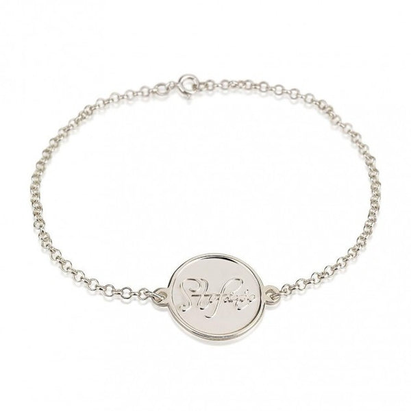 Sterling Silver Name Bracelet - jeweleen - 1