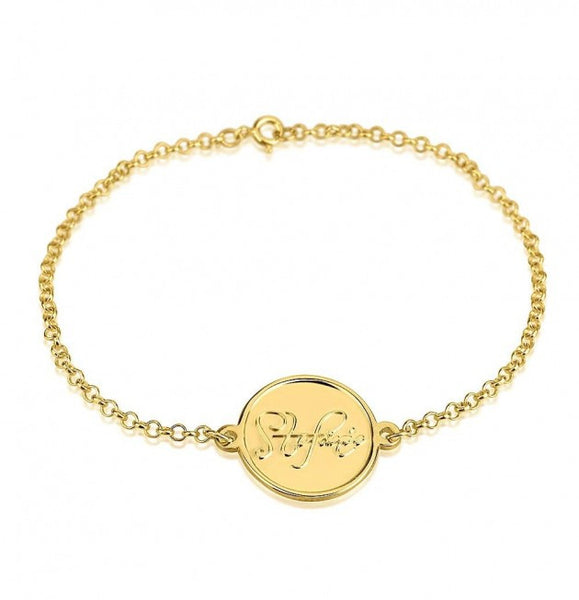 24K Gold Plated Name Bracelet - jeweleen - 1