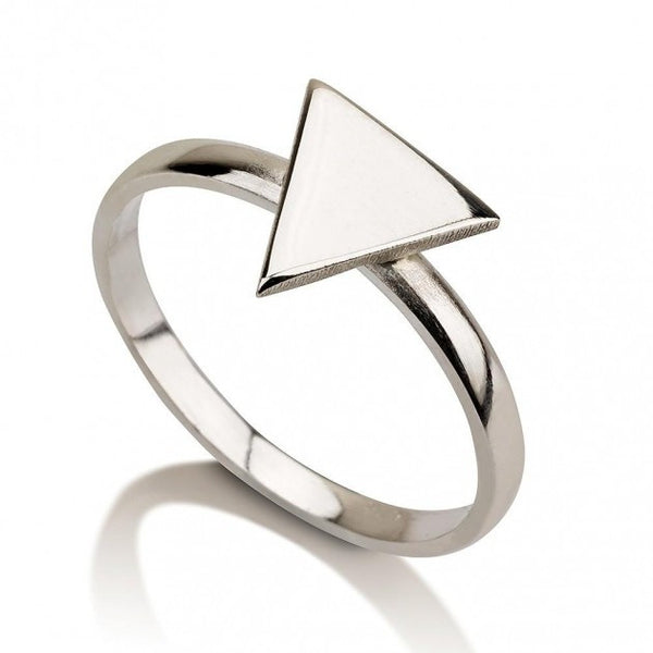 Sterling Silver Egyptian Triangle Ring - jeweleen