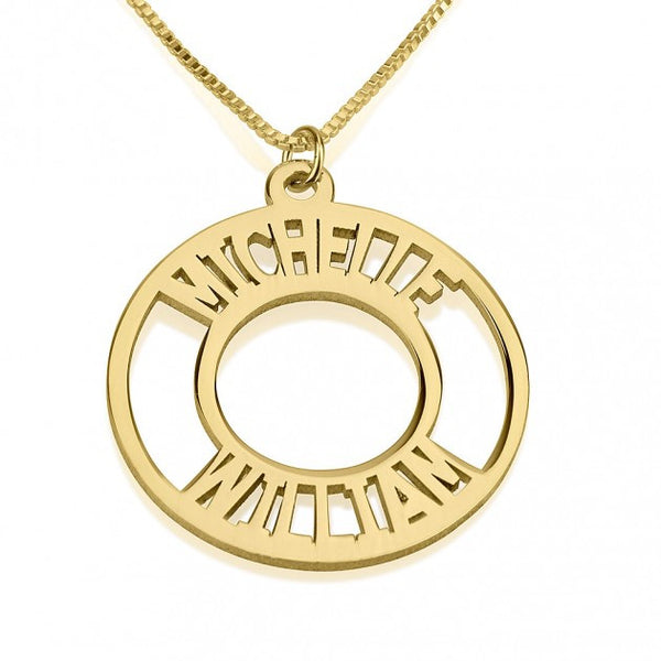24K Gold Plated Corona Name Necklace - jeweleen - 1