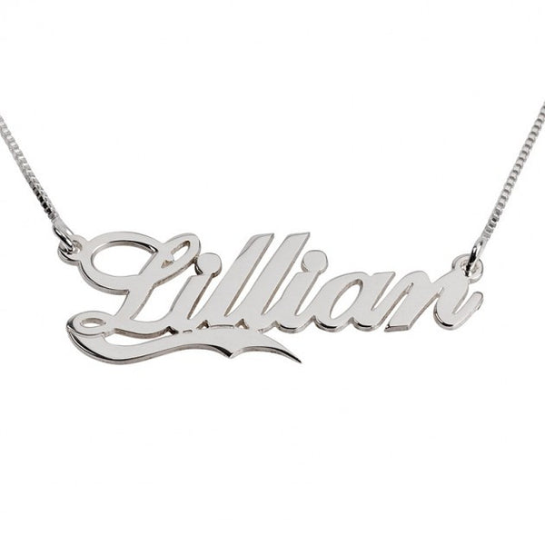 Sterling Silver Alegro with Line Name Necklace - jeweleen