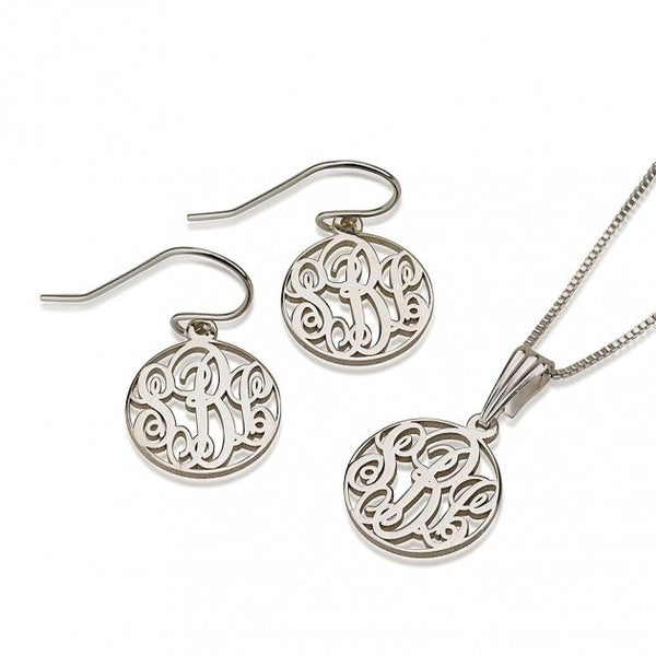Sterling Silver Monogram Set - jeweleen - 1