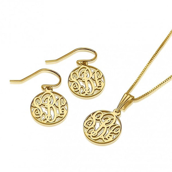 24K Gold Plated Monogram Set - jeweleen - 1