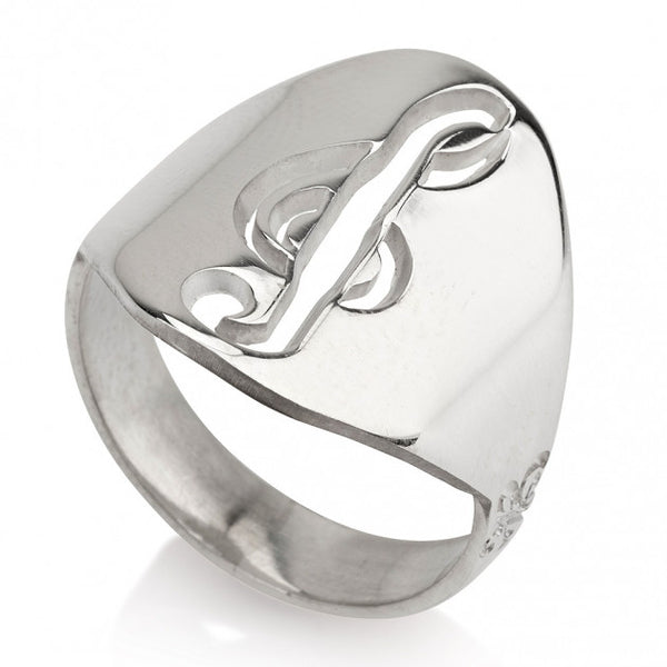 Sterling Silver Musical Sol Note Ring - jeweleen