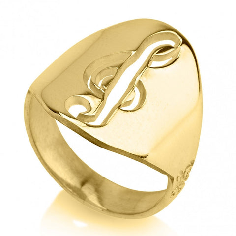 24K Gold Plated Musical Sol Note Ring - jeweleen