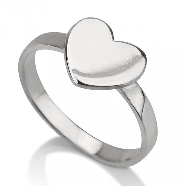 Sterling Silver Heart Ring - jeweleen