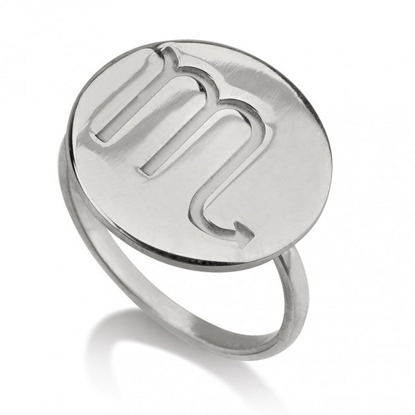 Sterling Silver Circle One Initial Ring - jeweleen