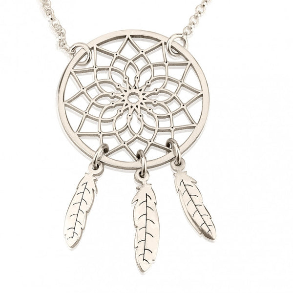 Sterling Silver Dreamcatcher Necklace - jeweleen - 1