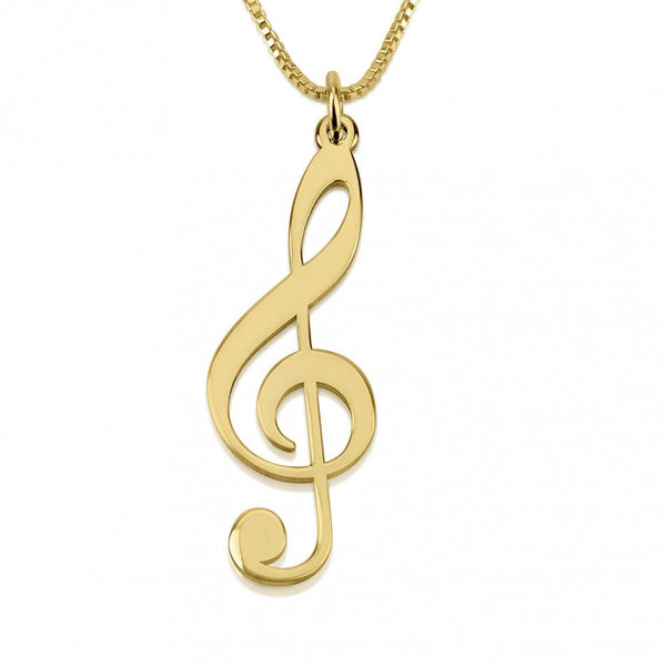 24K Gold Plated Musical Sol Note Necklace - jeweleen - 1