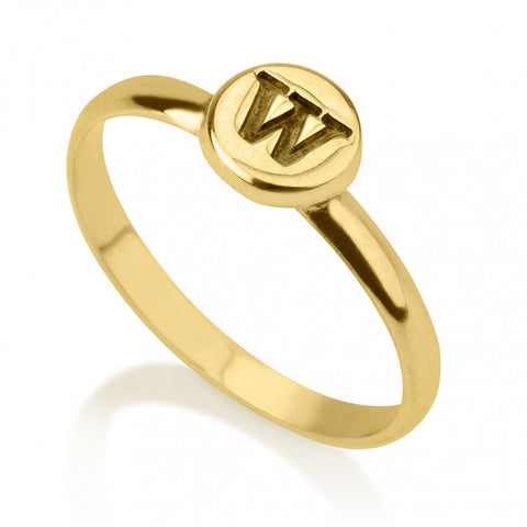 24K Gold Plated Circle Midi Ring - jeweleen