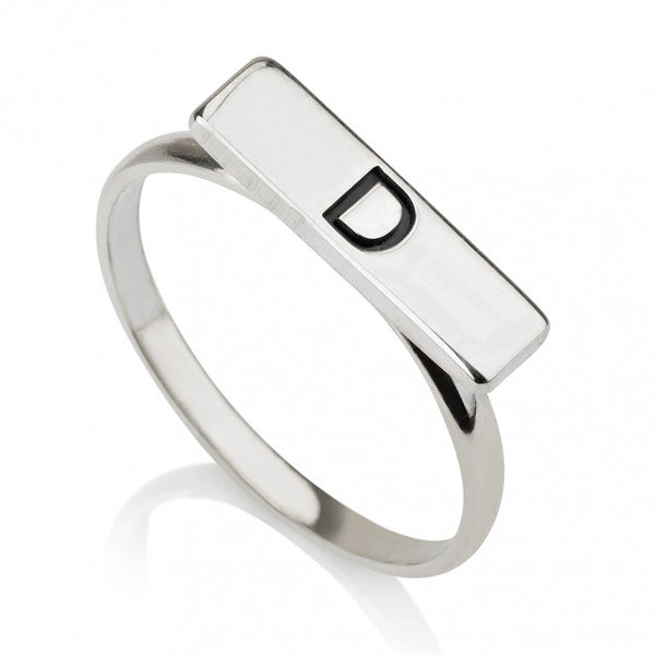 Sterling Silver Bar Ring - jeweleen