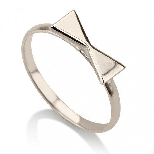 Sterling Silver Bow Midi Ring - jeweleen