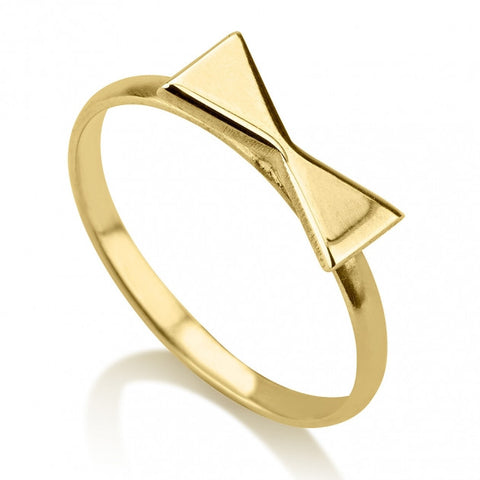 24K Gold Plated Bow Midi Ring - jeweleen
