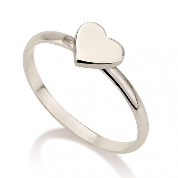 Sterling Silver Heart Midi Ring - jeweleen