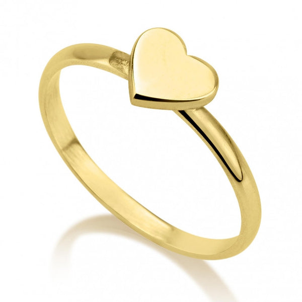 24k Gold Plated Heart Midi Ring - jeweleen