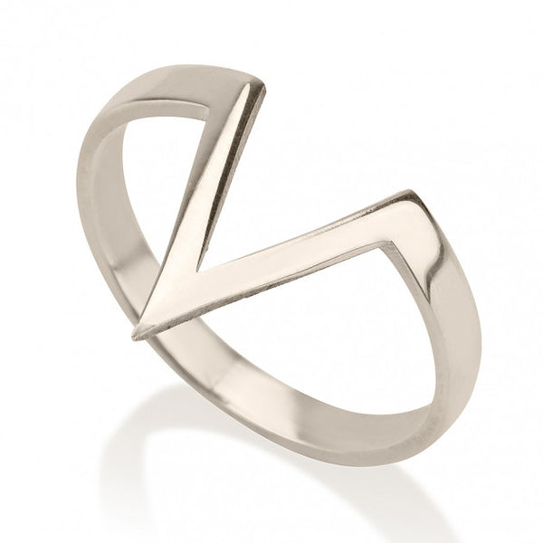 Sterling Silver Stacking Triangle Ring - jeweleen