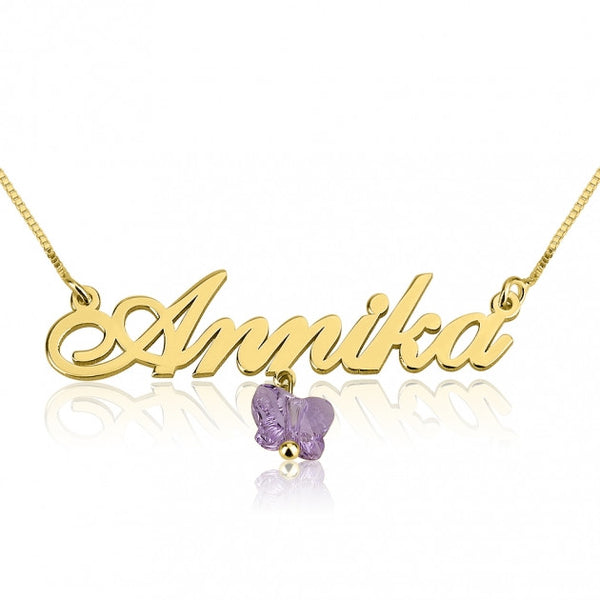24K Gold Plated Alegro Purple Butterfly - jeweleen - 1