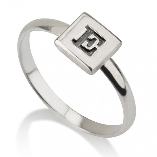 Sterling Silver Cube Midi Ring - jeweleen
