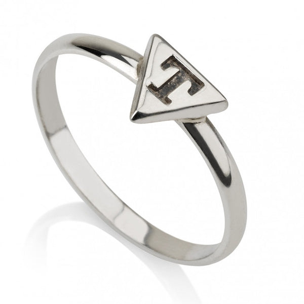 Sterling Silver Triangle Midi Ring - jeweleen