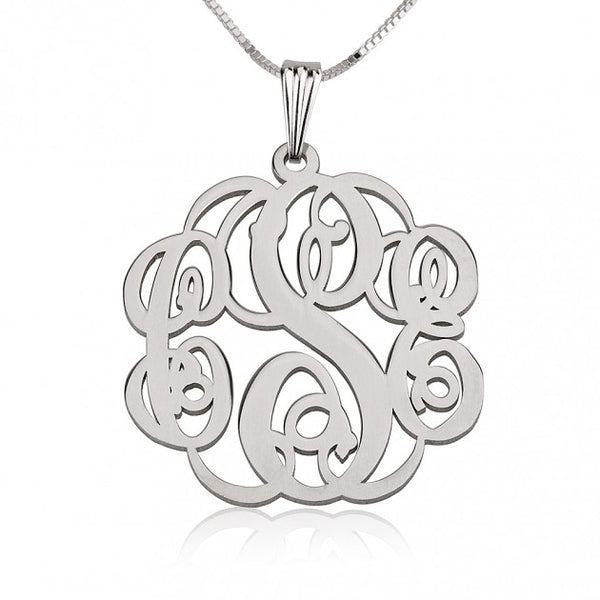 Sterling Silver Twisted Monogram Necklace - jeweleen - 1