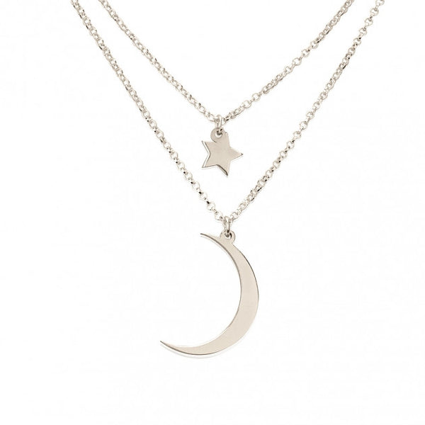Sterling Silver Starry Sky Layered Necklace - jeweleen - 1