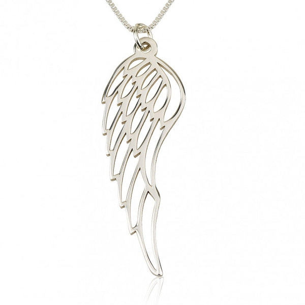 Sterling Silver Angel Wing Necklace - jeweleen