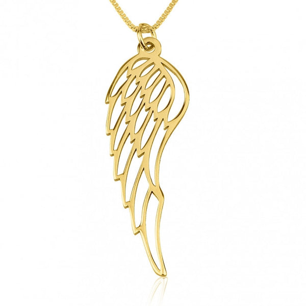 24k Gold Plated Angel Wing Necklace - jeweleen - 1
