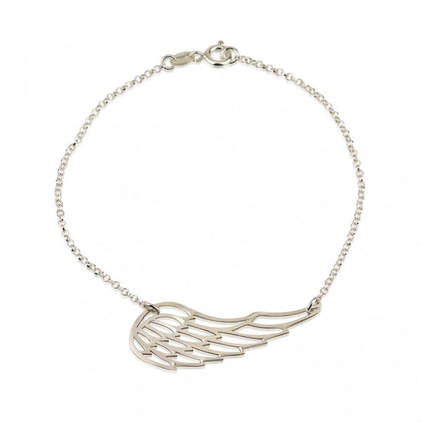 Sterling Silver Angel Wing Bracelet - jeweleen