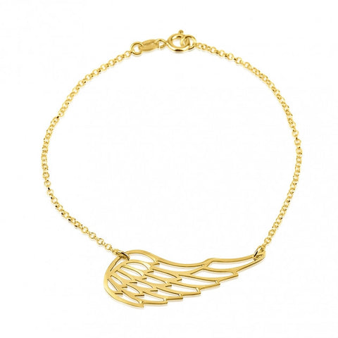 24k Gold Plated Wing Bracelet - jeweleen - 1