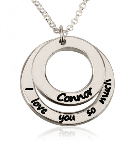 Sterling Silver I Love You So Much Necklace with Name - jeweleen - 1