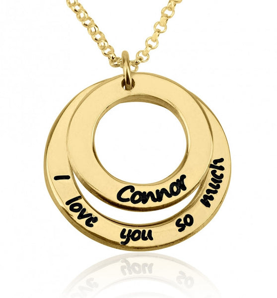 24k Gold Plated I Love You So Much Necklace with Name - jeweleen - 1