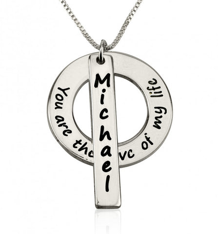 Sterling Silver Love of My Life Necklace with Name - jeweleen - 1