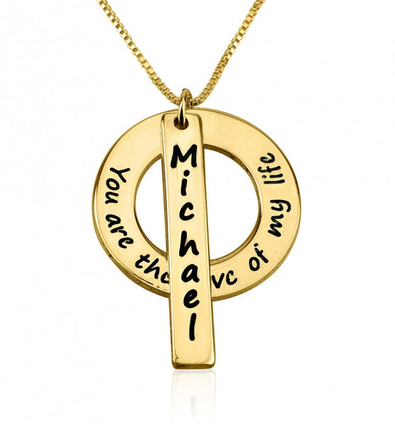 24k Gold Plated Love of My Life Necklace with Name - jeweleen - 1