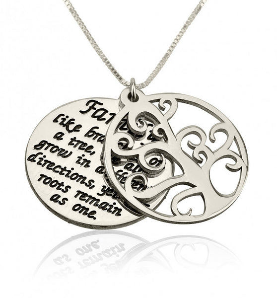 Sterling Silver Family Tree Of Life Necklace - jeweleen - 1