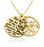 24k Gold Plated Family Tree Of Life Necklace - jeweleen - 1