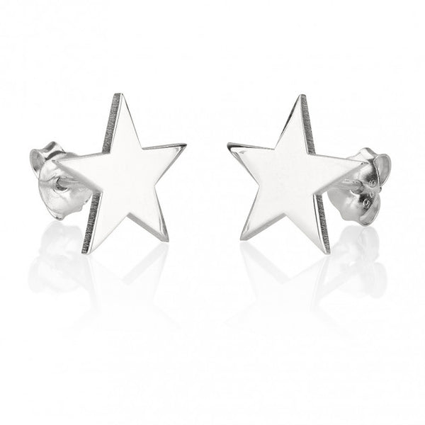 Sterling Silver Stud Star Earrings - jeweleen