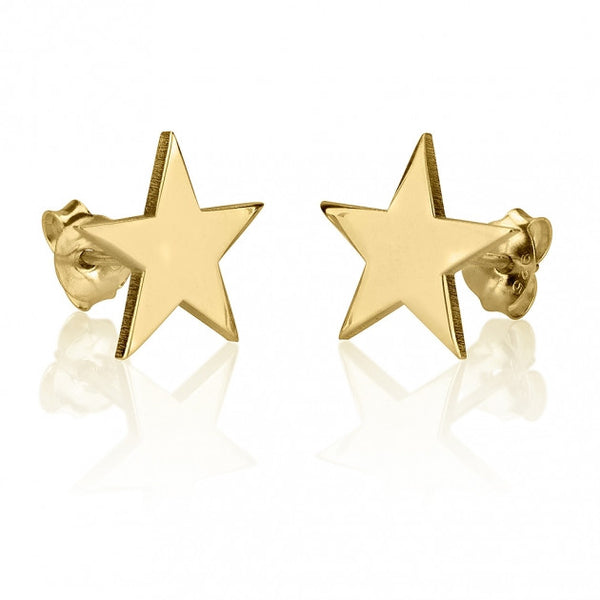 24k Gold Plated Stud Star Earrings - jeweleen