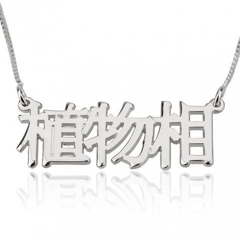 Sterling Silver Chinese Name Necklace - jeweleen - 1