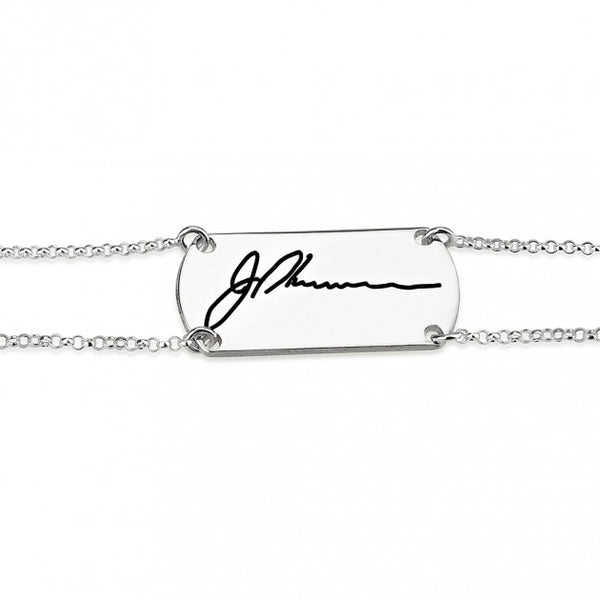 Sterling Silver Signature Bar Bracelet - jeweleen - 1