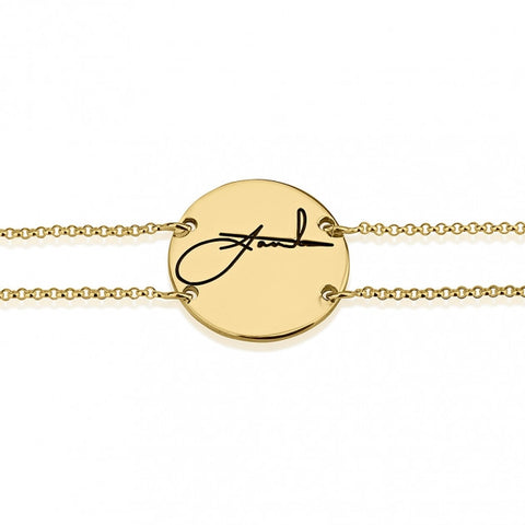 24k Gold Plated Signature Bracelet - jeweleen - 1