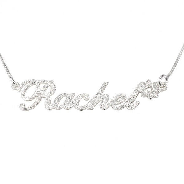 Sparkling Name Necklace with Flower - jeweleen - 1