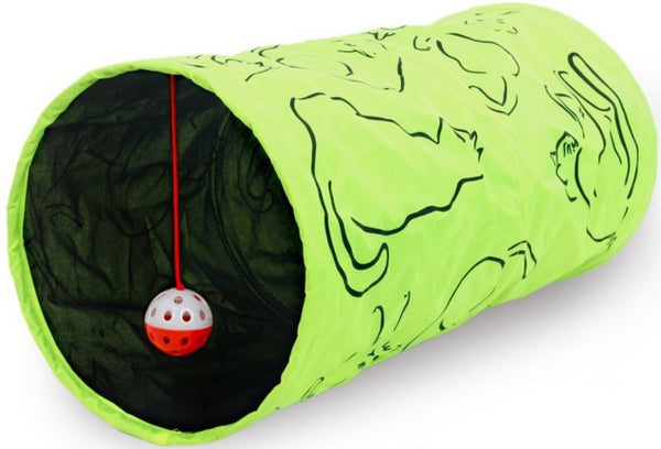 Cat & Kitten Tunnel With Hanging Ball. Your Pet Is Gonna Love This. - jeweleen - 1